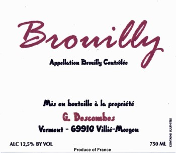 Domaine Georges Descombes Brouilly 2015