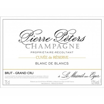 Pierre Peters Blanc de Blancs Cuvee Reserve Grand Cru NV