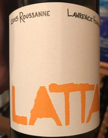 Latta Roussanne Lawrence Vineyard 2015