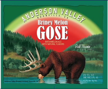 Anderson Valley Briney Melon Gose 12oz Can