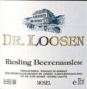 Dr Loosen Riesling Beerenauslese Estate 2015