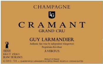Guy Larmandier Cramant Grand Cru Blanc de Blancs Brut Zero