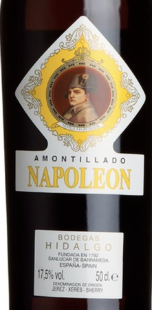 Bodegas Hidalgo Amontillado Seco Napoleon 500mL Bottle