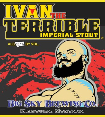 Big Sky Ivan the Terrible BA Imperial Stout 750mL Bottle