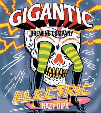 Gigantic & Anchorage Electric Hazy IPA 500mL Bottle
