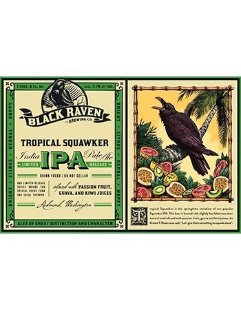 Black Raven Tropical Squawker IPA