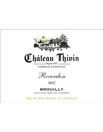 Chateau Thivin Brouilly Reverdon 2017