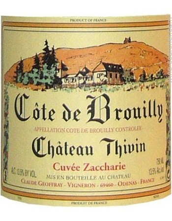 Chateau Thivin Cote de Brouilly Cuvee Zaccharie (1.5 Liter Magnum) 2017