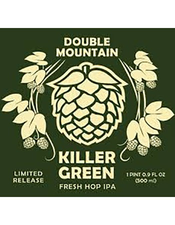 Double Mountain Killer Green Fresh Hop IPA 500mL Bottle