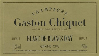 Gaston Chiquet Blanc de Blancs D'Ay Grand Cru 1.5L