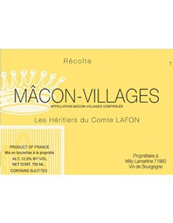 Heritiers du Comte Lafon Macon-Villages 2017