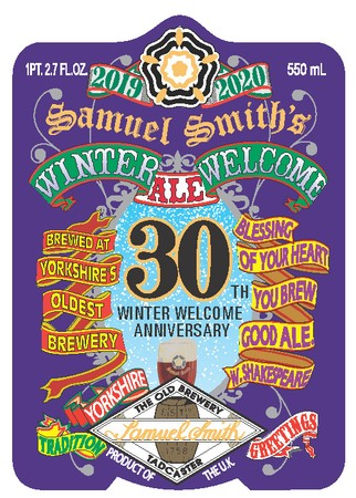 Samuel Smith Winter Welcome Ale 550mL Bottle