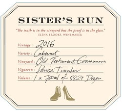 Sister's Run Old Testament Cabernet Sauvignon 2016