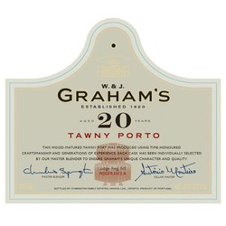 Graham's 20 Year Old Tawny Port (375ML half-bottle)