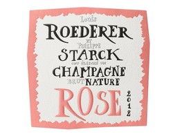 Louis Roederer Philippe Starck Brut Rose Nature 2012