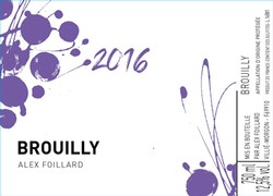 Alex Foillard Brouilly 2017