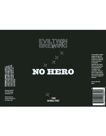 No Hero Evil Twin Oatmeal Stout