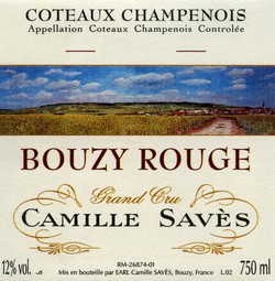 Camille Saves Bouzy Rouge Grand Cru 2011