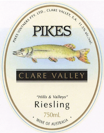 Pikes Hills and Valleys Riesling 2018