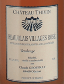 Chateau Thivin Beaujolais Villages Rose 2019