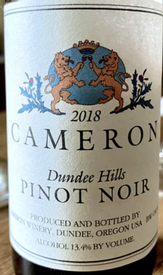 Cameron Winery Pinot Noir Dundee Hills 2018