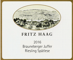 Fritz Haag Spatlese Brauneberge Riesling 2016
