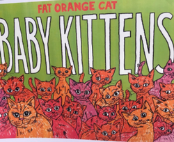 Fat Orange Cat Baby Kittens 16oz Can