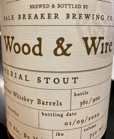 Bale Breaker Whiskey Barrel Aged Beer 750mL