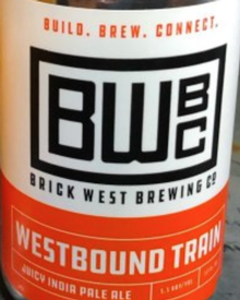 Brick West Brewing Westbound Train 12oz Can