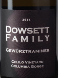 Dowsett Family Gewurztraminer Celilo Vineyard 2017