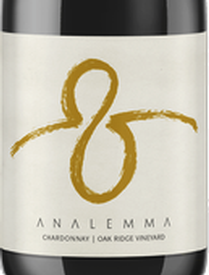 Analemma Oak Ridge Chardonnay 2018