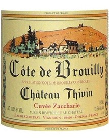 Chateau Thivin Cote de Brouilly Cuvee Zaccharie 2018