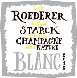Louis Roederer Brut Nature Philippe Starck Label 2012