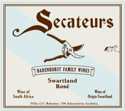 Badenhorst Secateurs Rose 2018