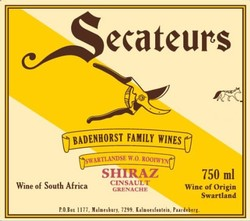 Badenhorst Secateurs Red Blend 2016