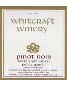 Whitcraft Pommard Clone Pinot Noir Pence Ranch 2017